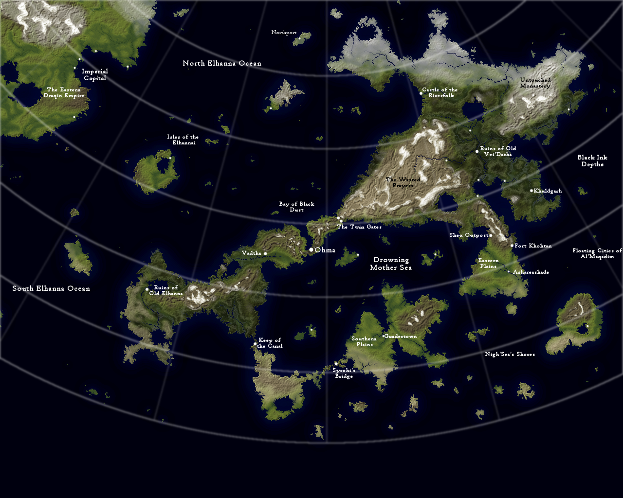 Vei'Dathan Continent Map